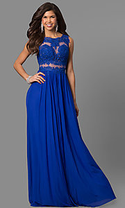 JVN by Jovani Sheer Embroidered Prom Dress