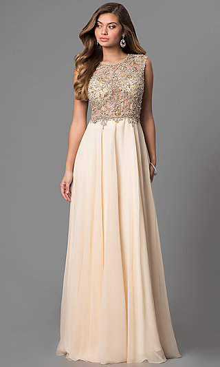 Nude Prom Dresses, Beige Party Dresses - Promgirl-9867