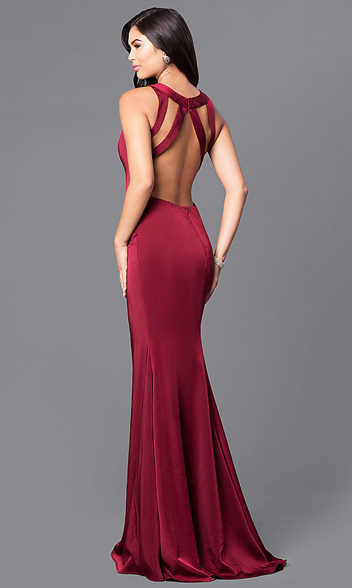 Jvnx By Jovani Wine Red Long Prom Dress Promgirl