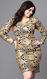 Plus Size Sequin Holiday Party Dress