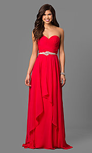 Chiffon Prom Dress by Alyce with Removable Straps