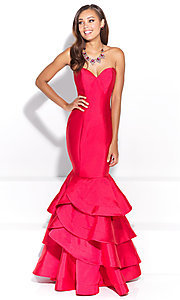 Strapless Prom Dress with Mermaid Skirt