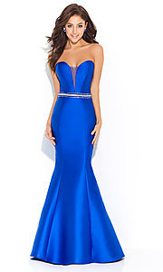 Strapless Madison James Prom Dress