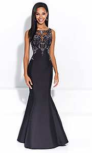 Embroidered Long Madison James Prom Dress