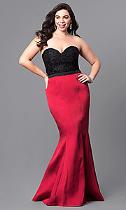Long Plus-Size Mermaid Prom Dress