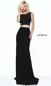 Long Prom Dress with Beaded Top by Sherri Hill