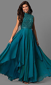 Prom Dress with Beaded Bodice by Sherri Hill