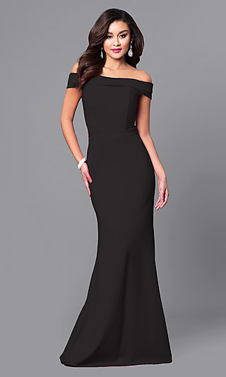 Long Off-the-Shoulder Gorgeous Prom Dress