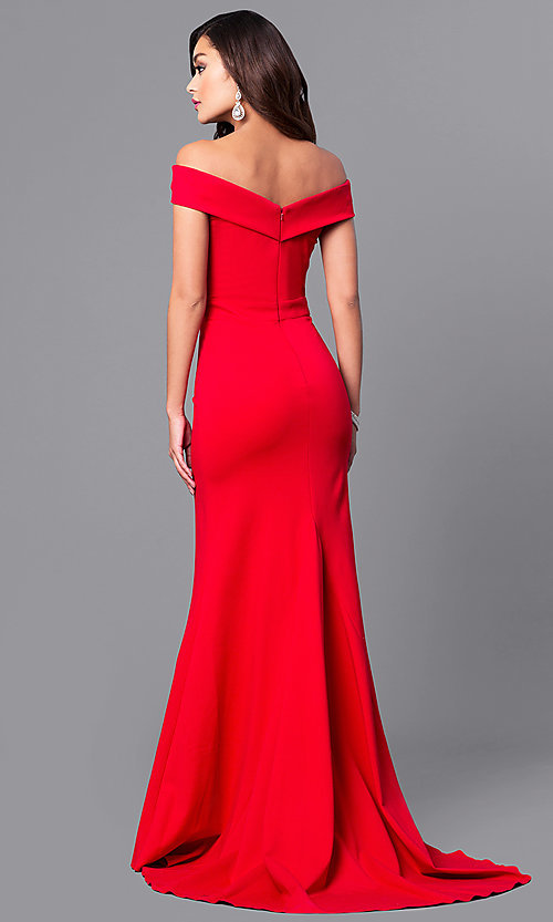 Image of long off-the-shoulder Sherri Hill prom dress. Style: SH-50824 Detail Image 3