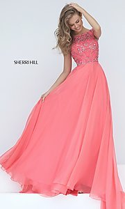 Beaded Illusion Bodice Sherri Hill Prom Dress