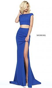 Sherri Hill Two Piece Off-the-Shoulder Prom Dress
