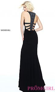 Long Open-Back Formal Evening Dress by Sherri Hill