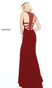 Image of long open-back formal evening dress by Sherri Hill. Style: SH-51090 Detail Image 3