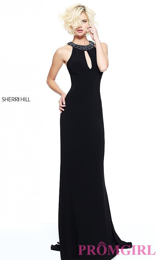 Image of long open-back formal evening dress by Sherri Hill. Style: SH-51090 Back Image