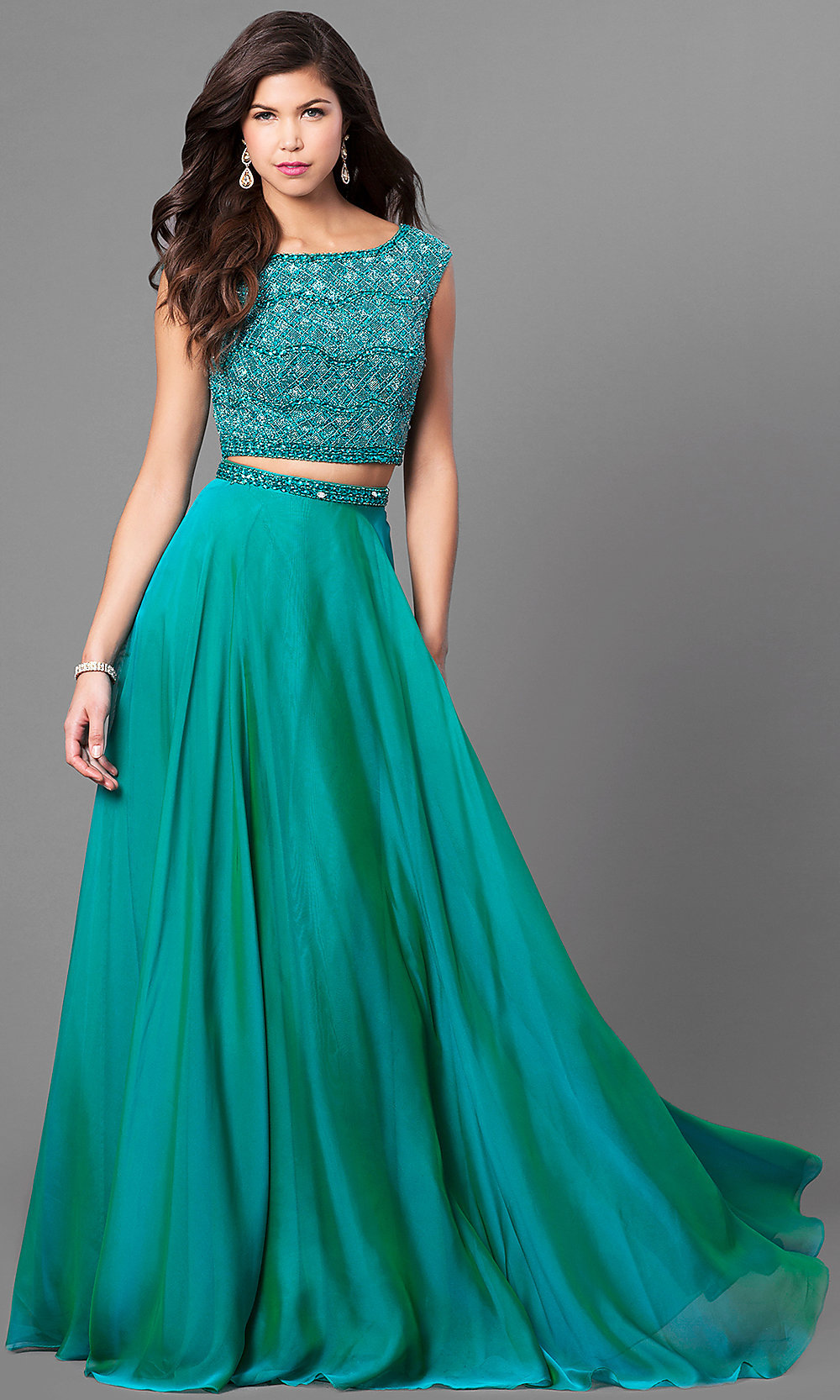 Embellished Two-Piece Sherri Hill Prom Dress -PromGirl
