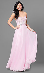 Long Pink Prom Dress by Nina Canacci