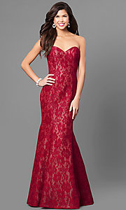 Long Lace Mermaid Prom Dress