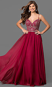 V-Neck Prom Dress by Nina Canacci