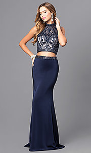 Long Dave and Johnny Two Piece Prom Dress