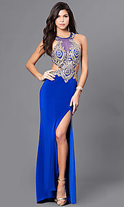 Long Prom Dress with Open Back by Dave & Johnny
