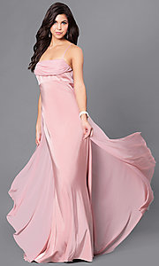 Image of long empire-waist sleeveless prom dress Style: DJ-A5137 Detail Image 1