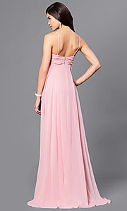 Image of long empire-waist sleeveless prom dress Style: DJ-A5137 Back Image