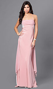 Image of long empire-waist sleeveless prom dress Style: DJ-A5137 Detail Image 2