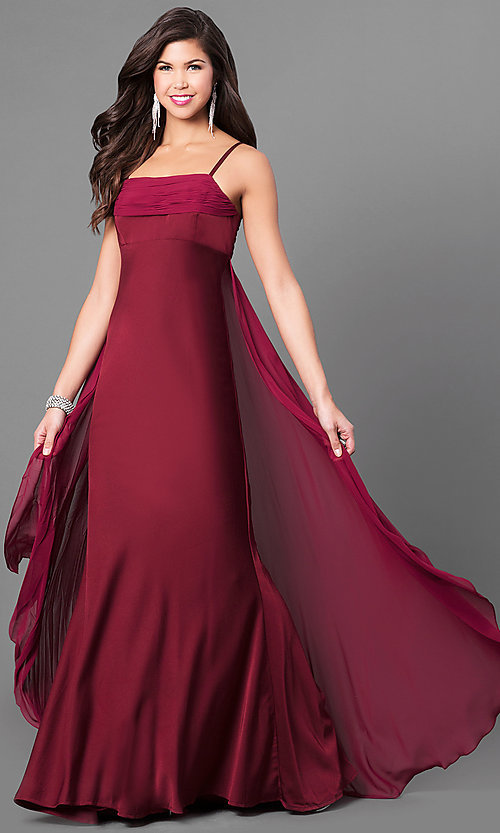 Image of long empire-waist sleeveless prom dress Style: DJ-A5137 Detail Image 3