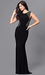 Sleeveless Open Back Prom Dress by Dave and Johnny