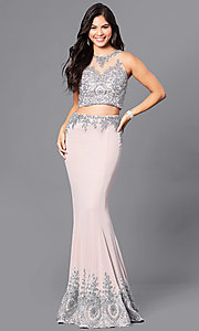 Dave and Johnny Two-Piece Long Prom Dress