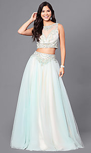 Two-Piece Ball Gown by Dave and Johnny