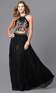 Two Piece Dave and Johnny A-Line Prom Dress