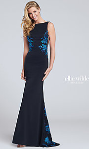 Long Open Back Prom Dress by Ellie Wilde
