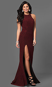 Sparkling Glitter Long Jersey La Femme Dress