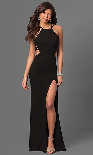 Little Black Dresses, Black Long Prom Dresses