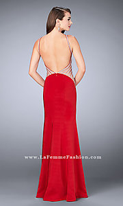 Long La Femme Prom Dress with Sheer-Sides