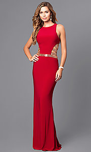 Image of long sleeveless prom dress by Faviana. Style: FA-7912 Detail Image 1