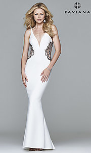Faviana Long Prom Dress with Beading