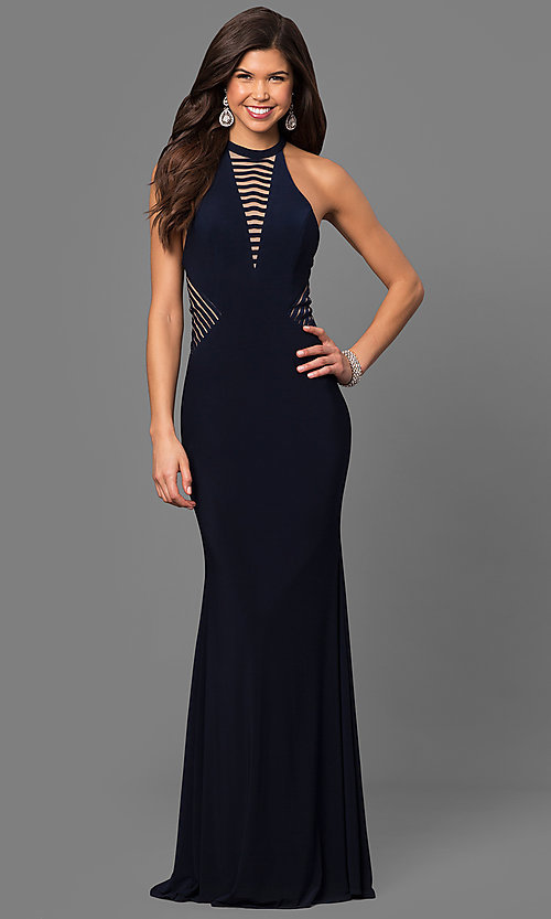 Image of floor-length Faviana sleeveless prom dress. Style: FA-7919 Back Image