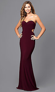 Strapless Sweetheart Long Prom Dress with Back Cut Out