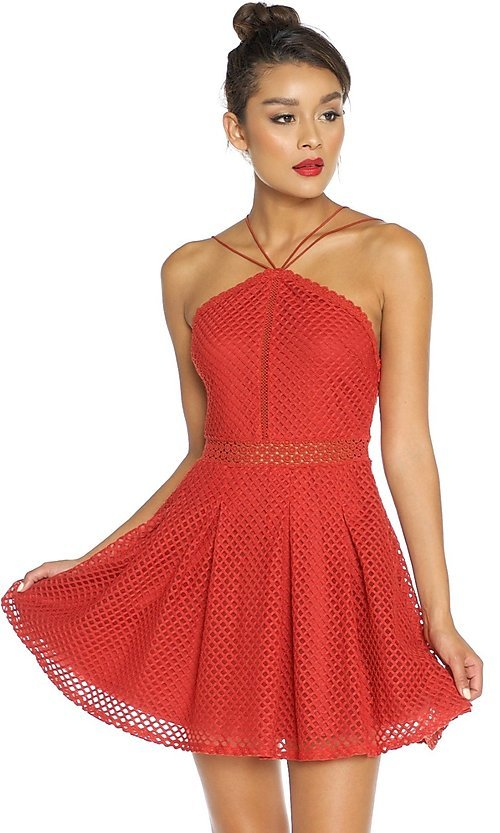 Cheap short red cocktail dresses