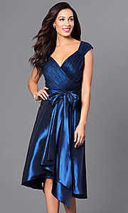 Royal Blue Knee-Length Holiday Party Dress