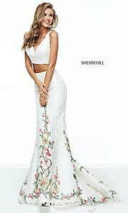 Lace Two-Piece Prom Dress by Sherri Hill