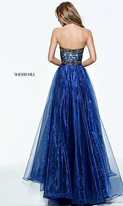 Image of Sherri Hill a-line strapless long prom dress. Style: SH-50779 Back Image