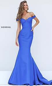 Trumpet Skirt Sweetheart Off the Shoulder Prom Dress