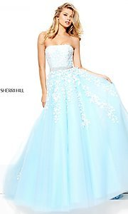 A-Line Strapless Empire Waist Prom Dress
