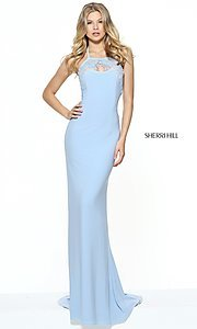 Light Blue Open-Back Evening Dress by Sherri Hill