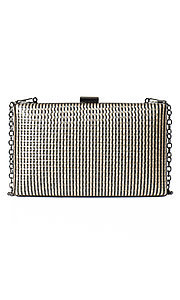 Striped Gold Chain Clutch