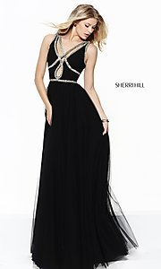 Beaded Embellished Long Prom Dress