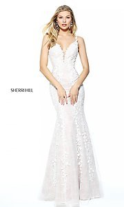 Lace Embroidered Prom Dress by Sherri Hill